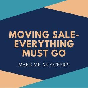 I'm moving! Make me an offer
